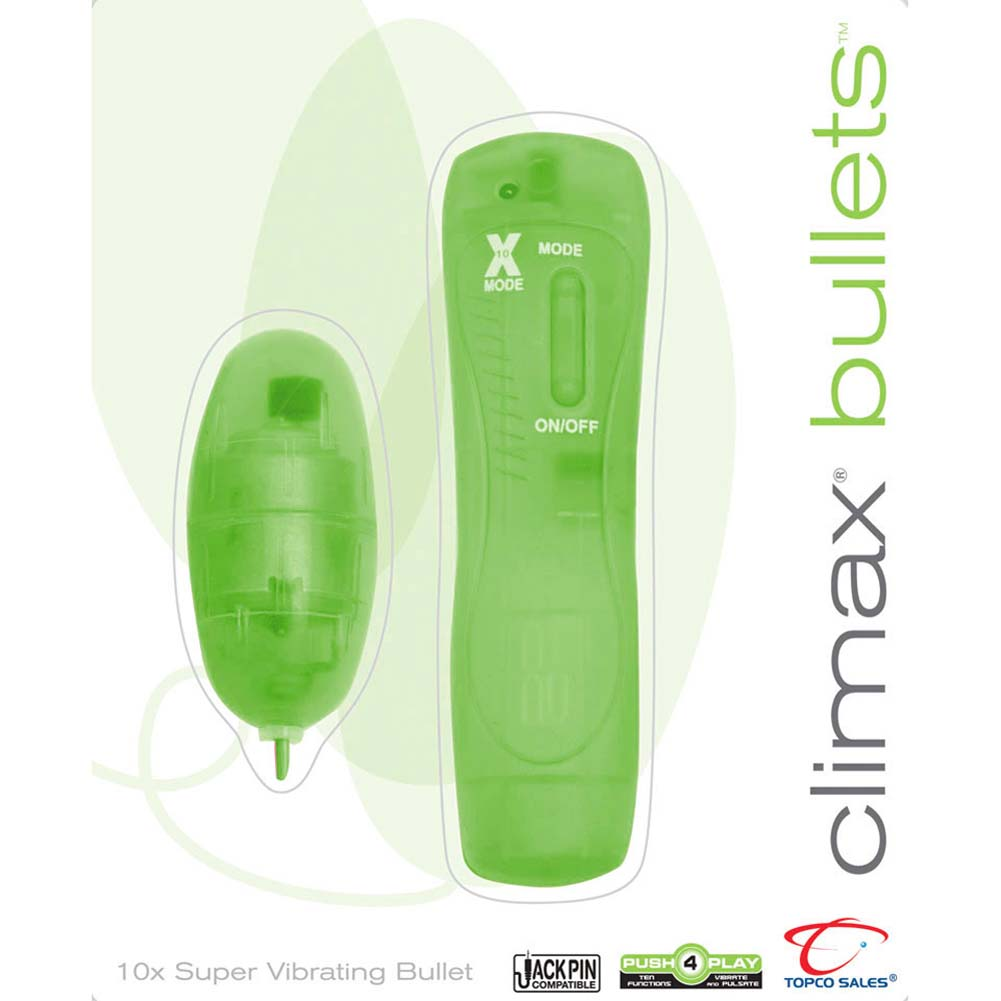 Climax Bullets 10X Super Vibrating Bullet Green - View #3