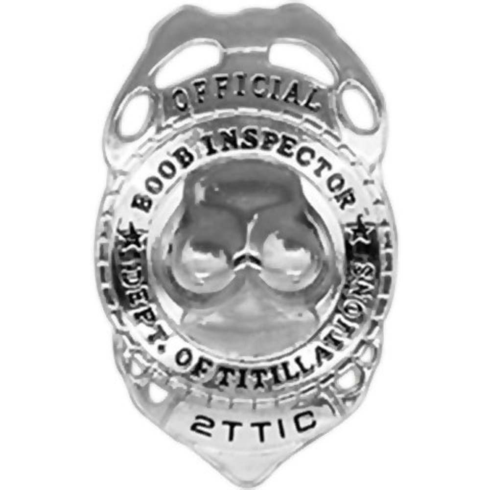 Official Boob Inspector Badge Silver - View #2
