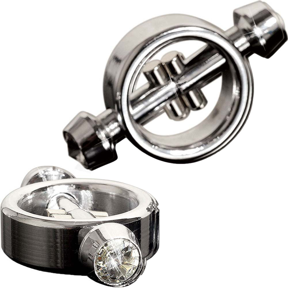 Metal Worx Magnetic Nipple Clamps Silver - View #2