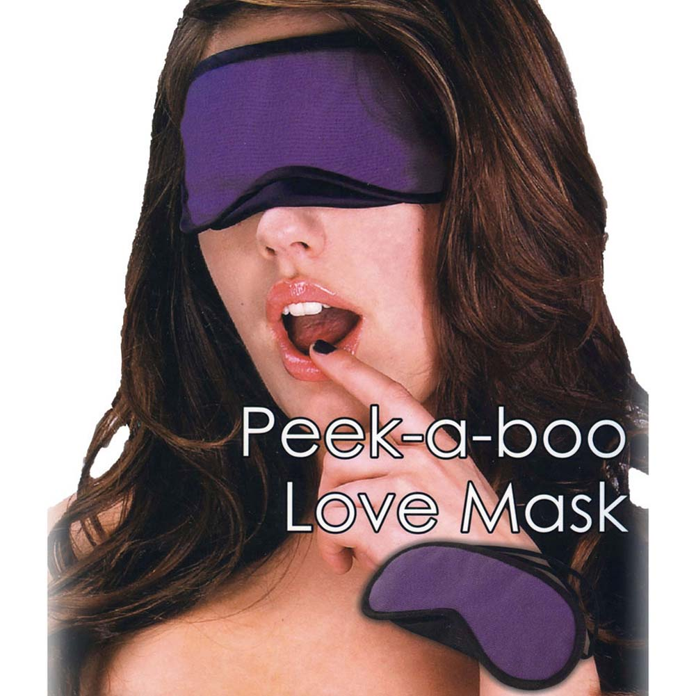 Lux Fetish Peek A Boo Love Mask Purple - View #1