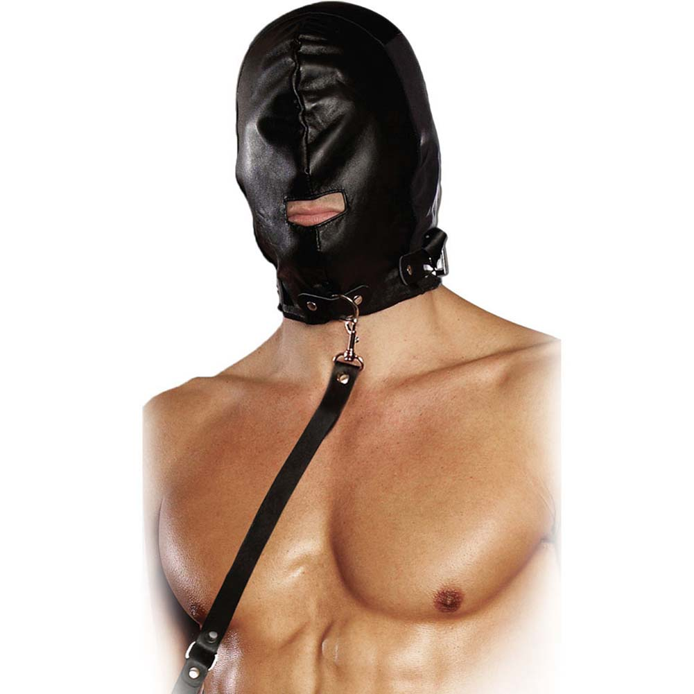 Lux Fetish Gimp Mask with Leash - View #2