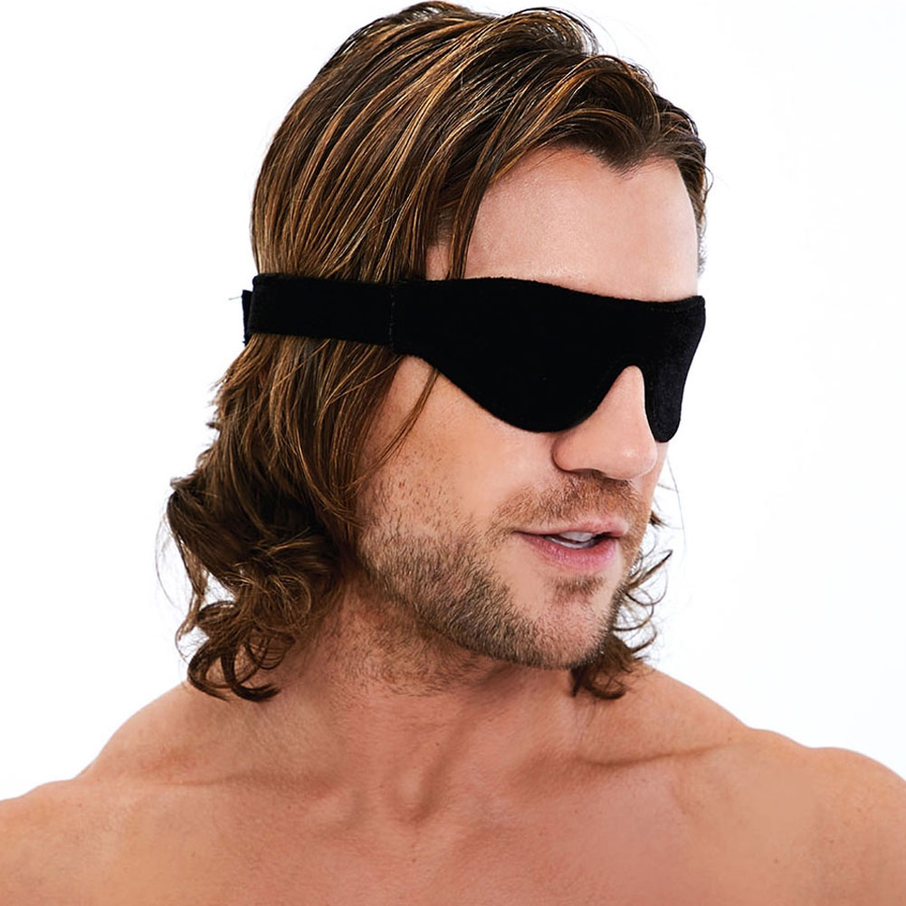 Lux Fetish Unisex Blindfold Black - View #3