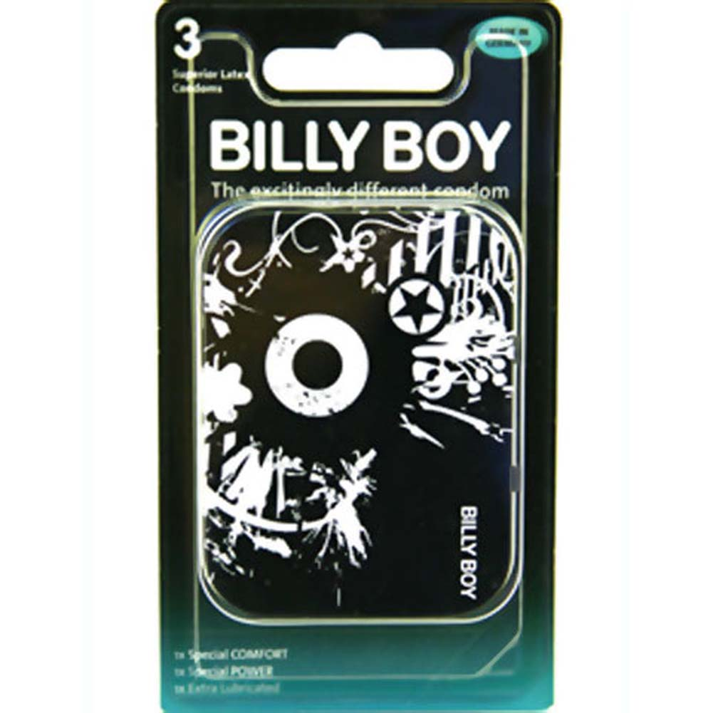 Billy Boy Tin Condoms 3 Pack - View #1