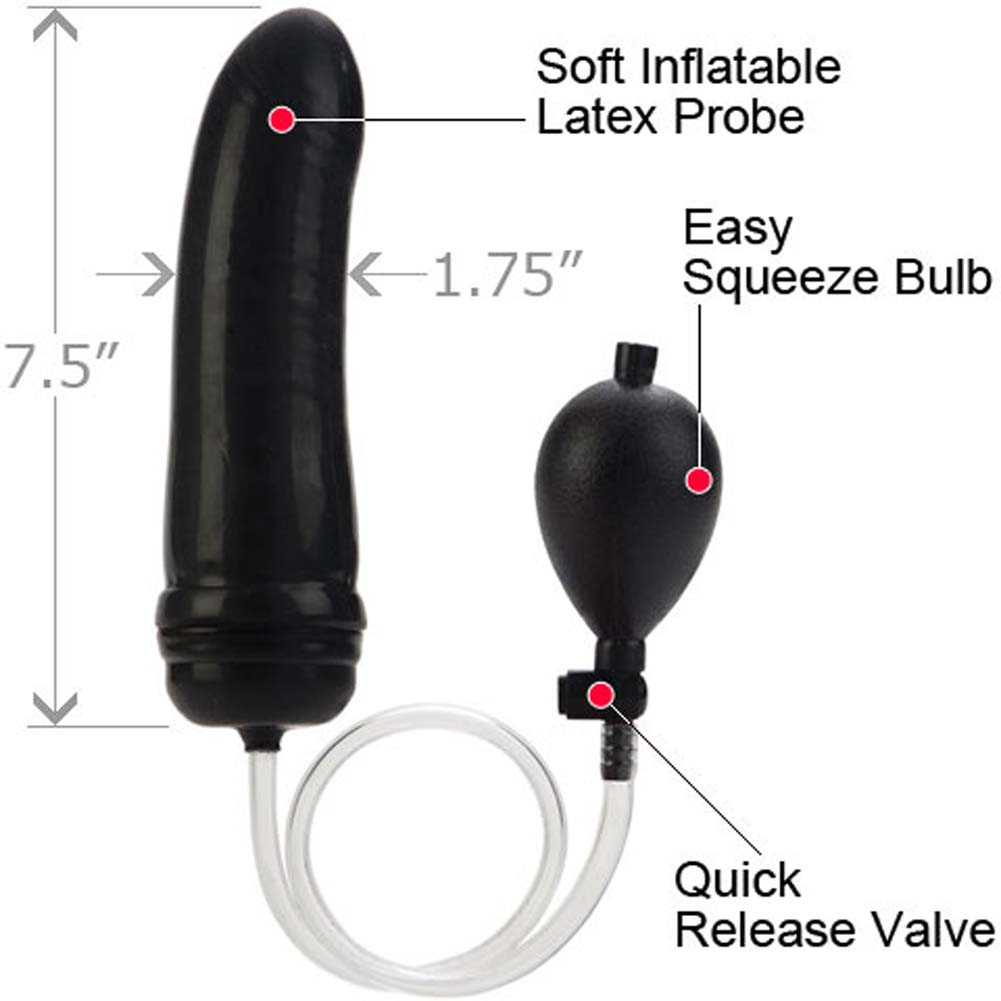 "California Exotics COLT Hefty Inflatable Butt Plug 7.5"" Black - View #1"
