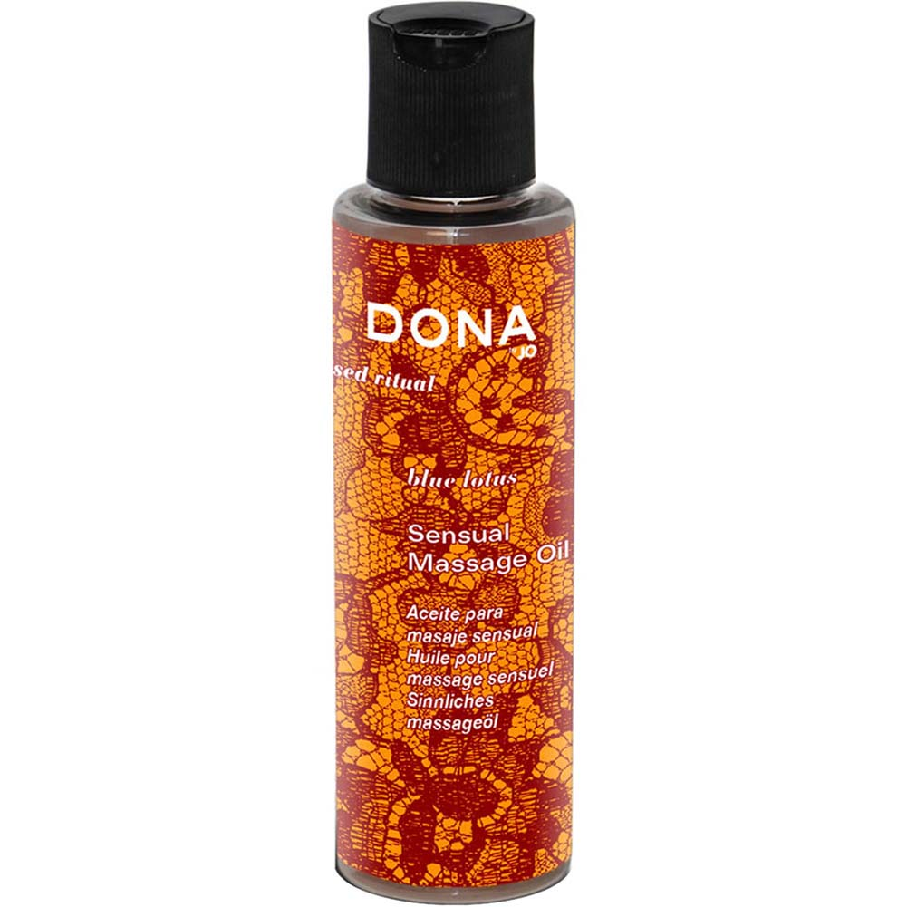 Dona Engage Sensual Massage Oil Blue Lotus 4.7 Oz. - View #1
