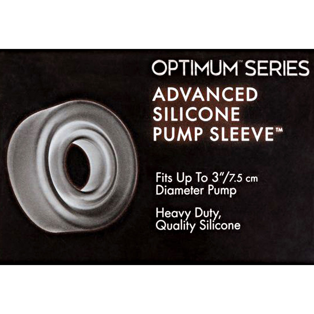 "Advanced Silicone Pump Sleeve 3"" Smoke - View #1"