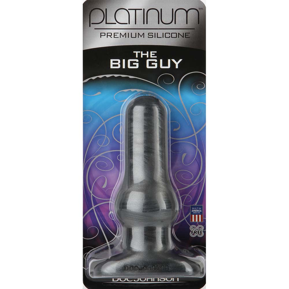 "Platinum Silicone Big Guy Butt Plug 5.25"" Charcoal - View #2"
