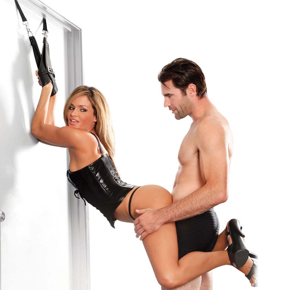 Fetish Fantasy Series Deluxe Door Cuffs Black - View #2