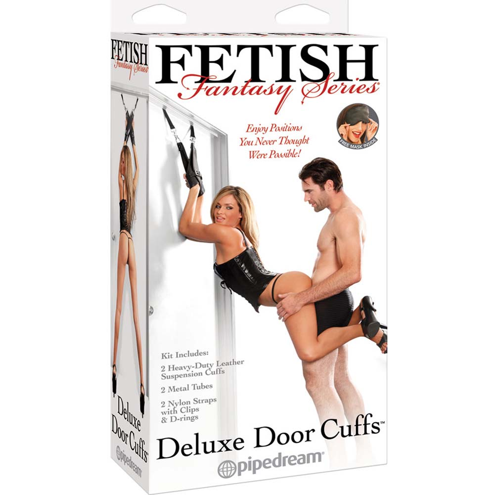 Fetish Fantasy Series Deluxe Door Cuffs Black - View #4
