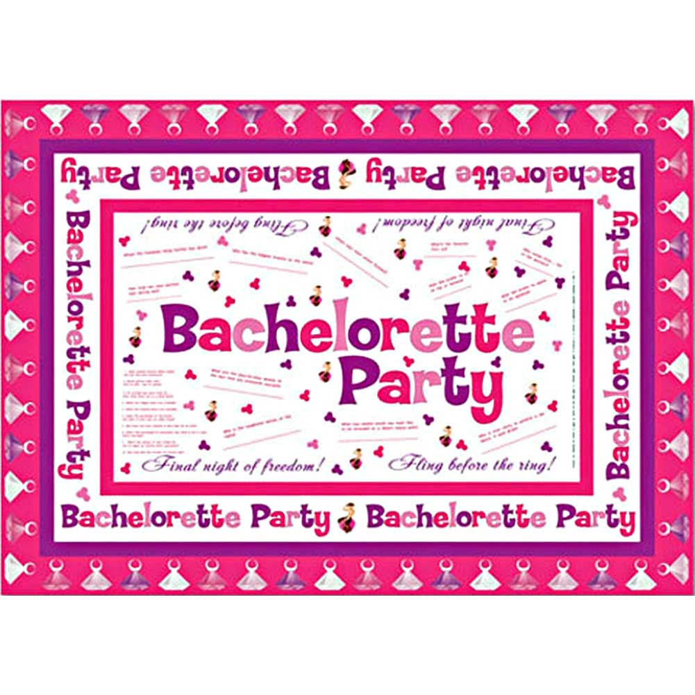 Bachelorette Party Tablecloth with Markers - View #3