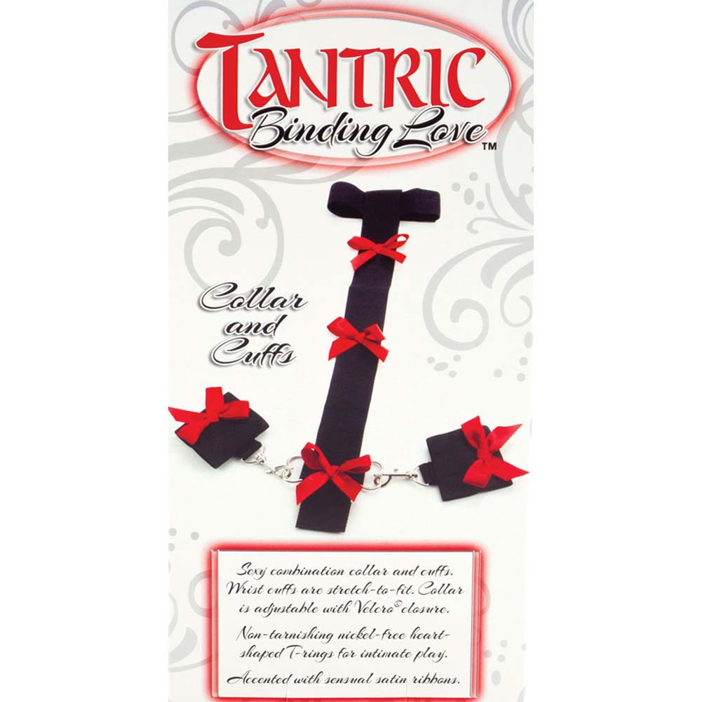 California Exotics Tantric Binding Love Collar and Cuffs Black - View #3