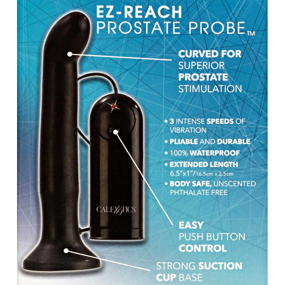 California Exotics Dr. Joel Kaplan EZ Reach Vibrating Prostate Probe Black - View #1
