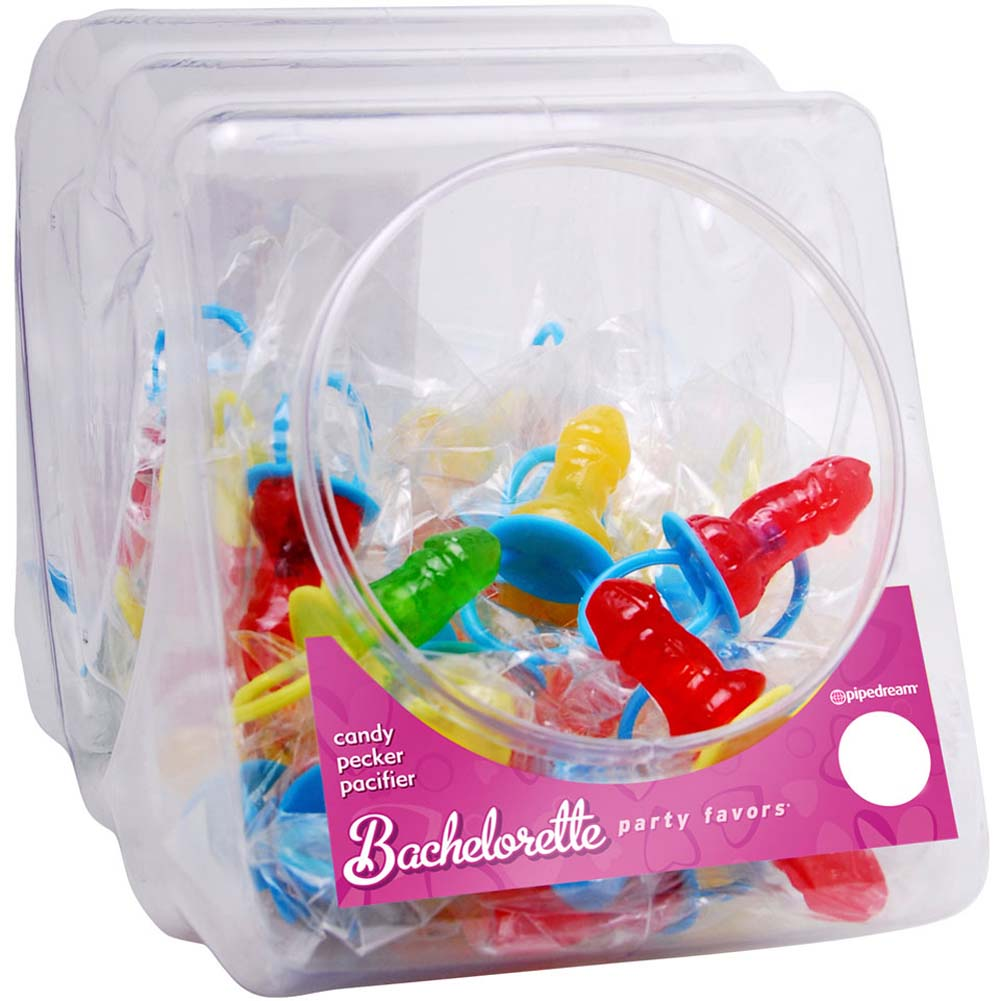 Bachelorette Party Favors Candy Pecker Pacifier 48 Pieces Display Assorted Flavors - View #2