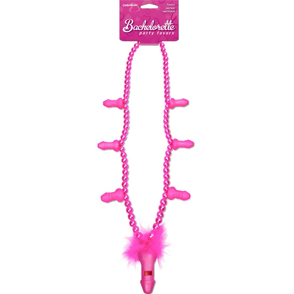 Bachelorette Party Favors Fancy Pecker Necklace Pink - View #2