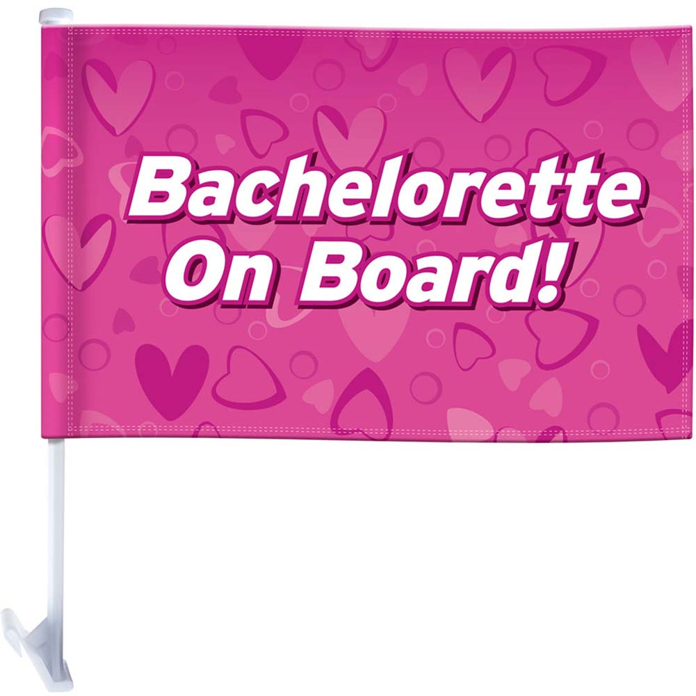 Bachelorette Party Favors On Board Car Flag - View #1