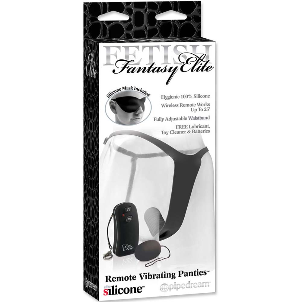 Fetish Fantasy Elite Remote Vibrating Panties Black - View #4