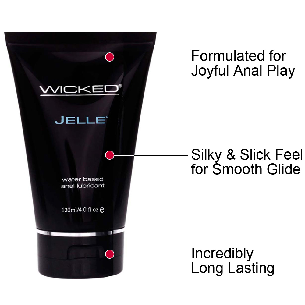 Wicked Sensual Care Jelle Anal Water Based Lube 4 Fl Oz Tube - View #1