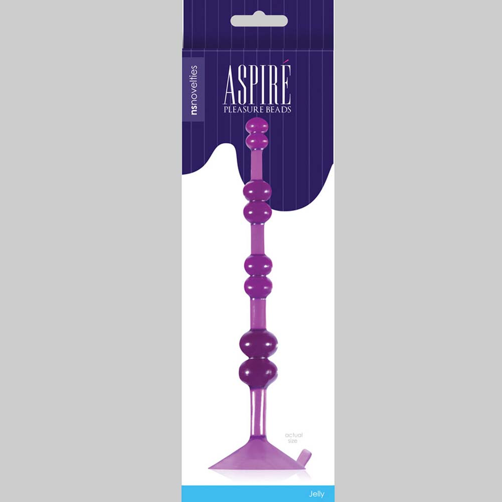 "Aspire Pleasure Beads 7"" Purple - View #3"