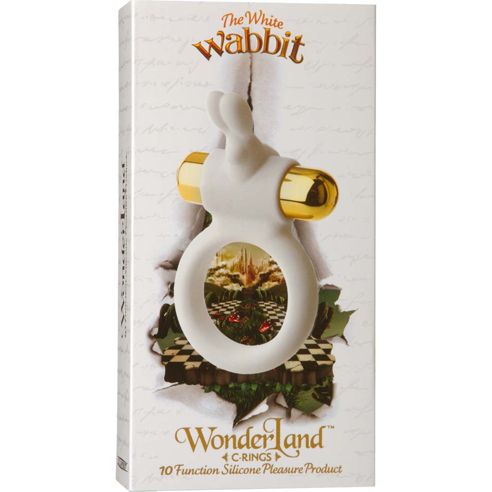 Wonderland C Ring White Wabbit Vibrating Silicone Cockring - View #1