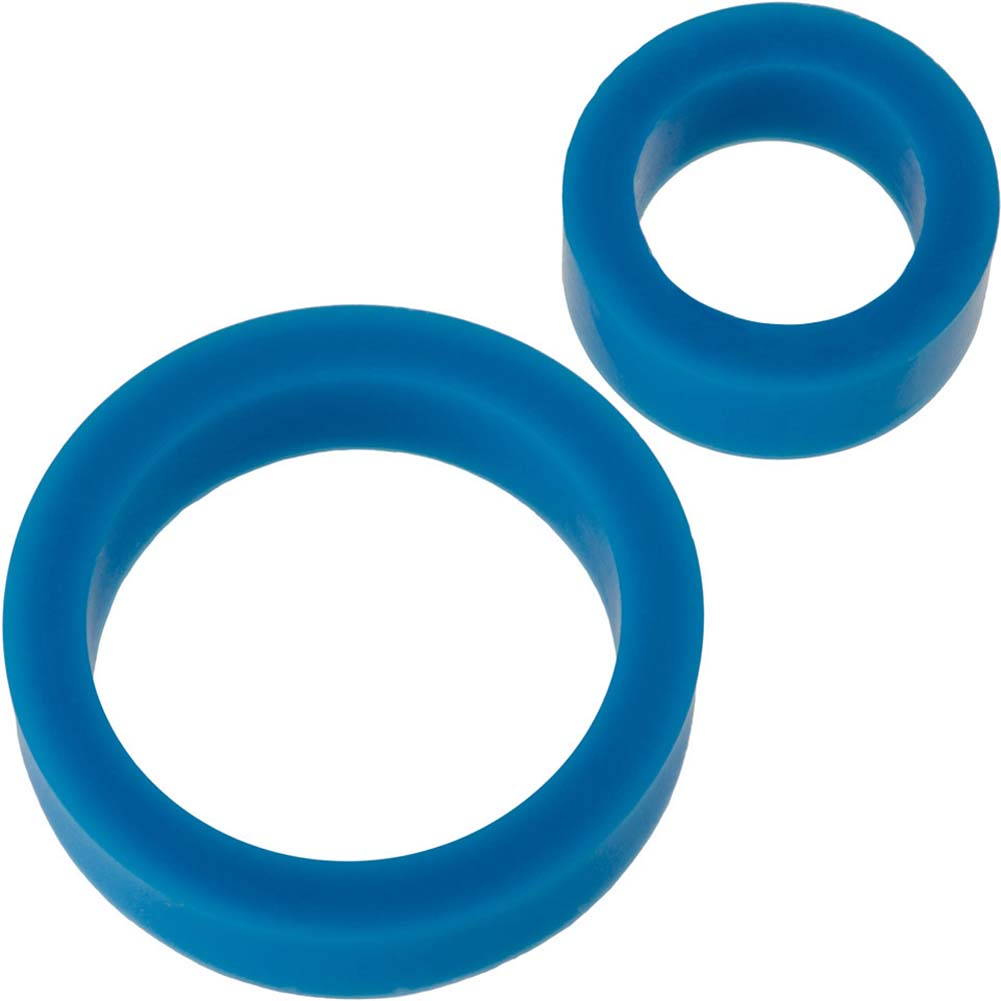 James Deen Signature Silicone Cock Ring Set Blue - View #2