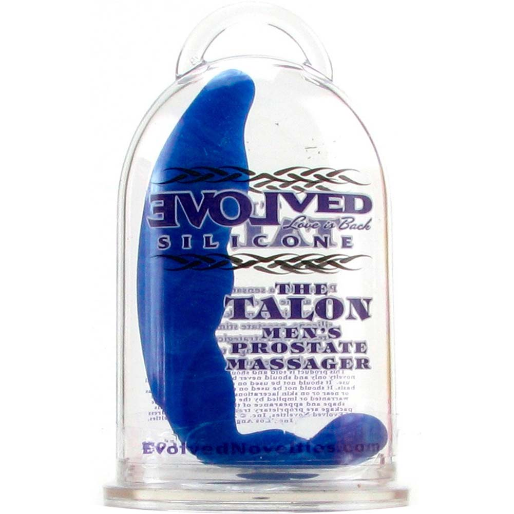"Prostate Massage Talon Silicone Anal Probe 5"" Blue - View #1"
