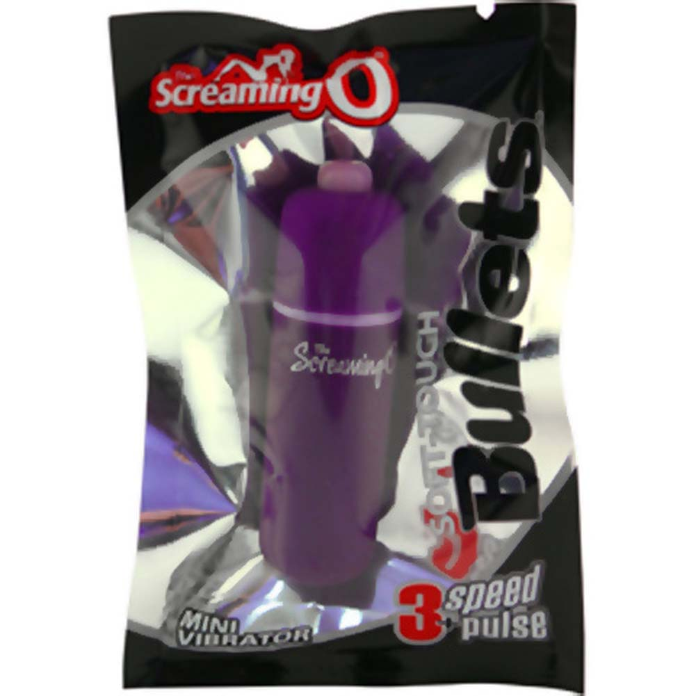 Screaming O Soft Touch Waterproof Vibrating Bullet Purple - View #1