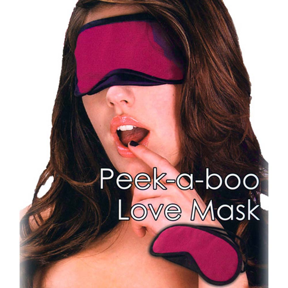 Lux Fetish Peek A Boo Love Mask Pink - View #1