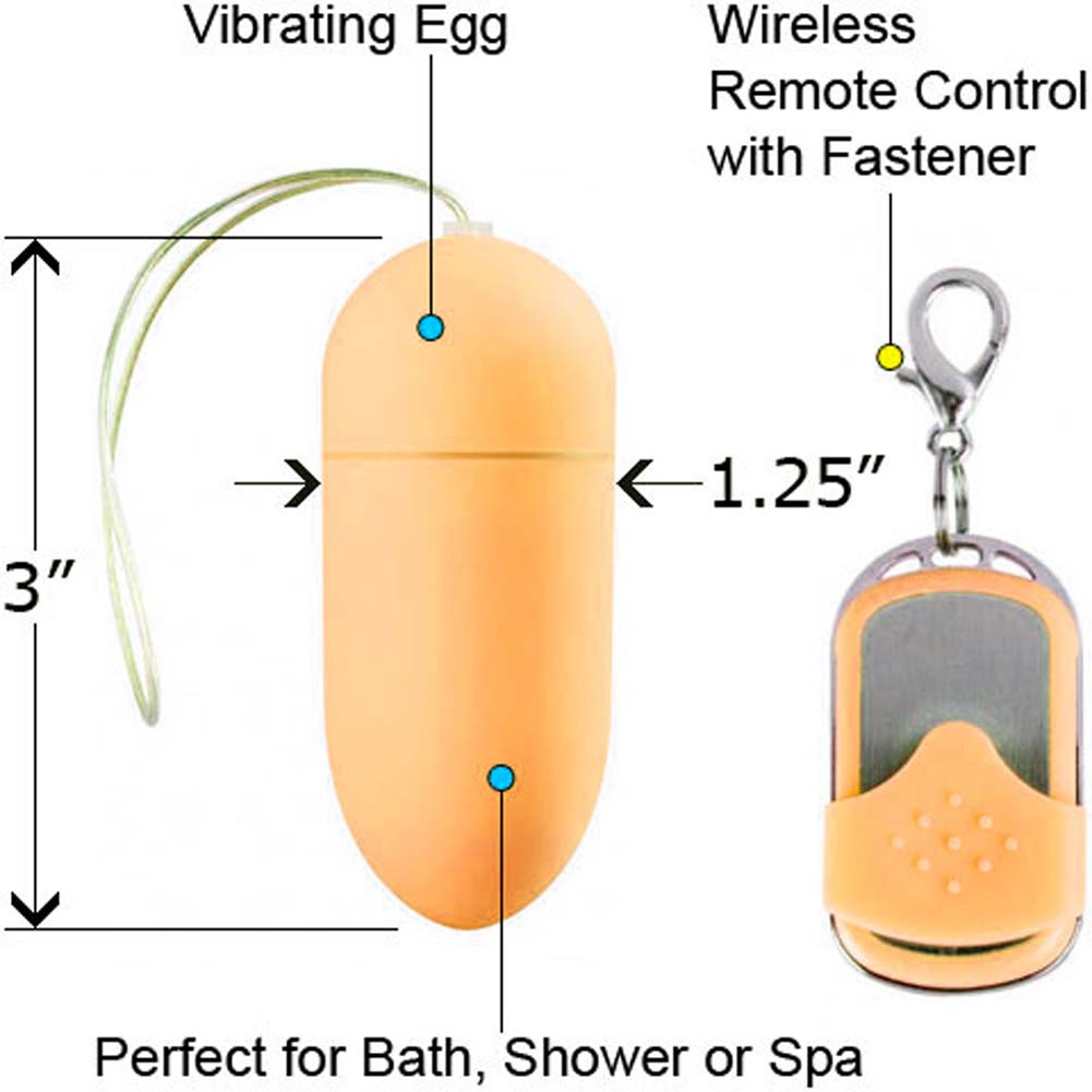 "10 Speed Wireless Remote Controlled Vibrating Egg 3"" Gold - View #1"
