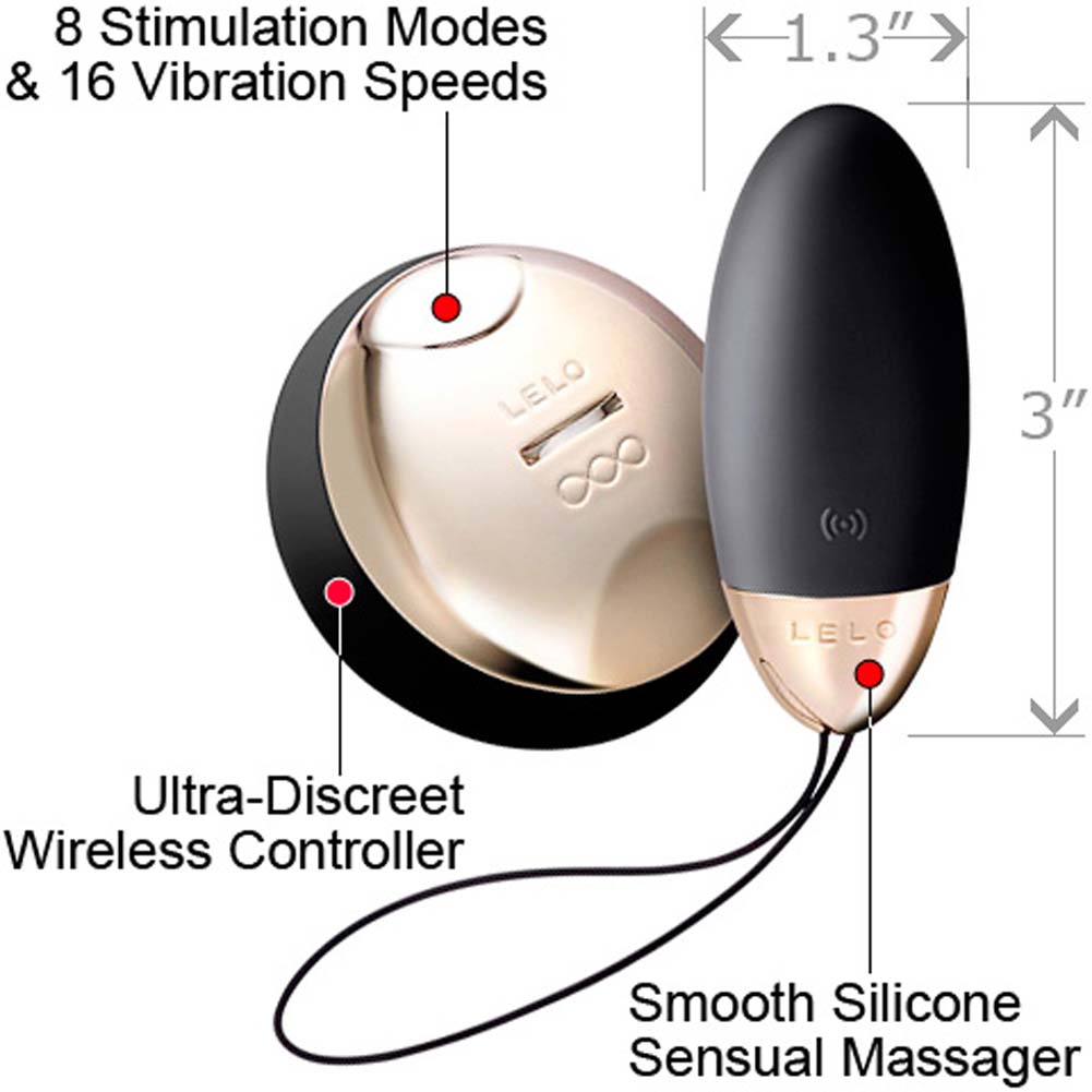 Lelo Lyla 2 Design Edition Remote Controlled Rechargeable Bullet Black - View #1