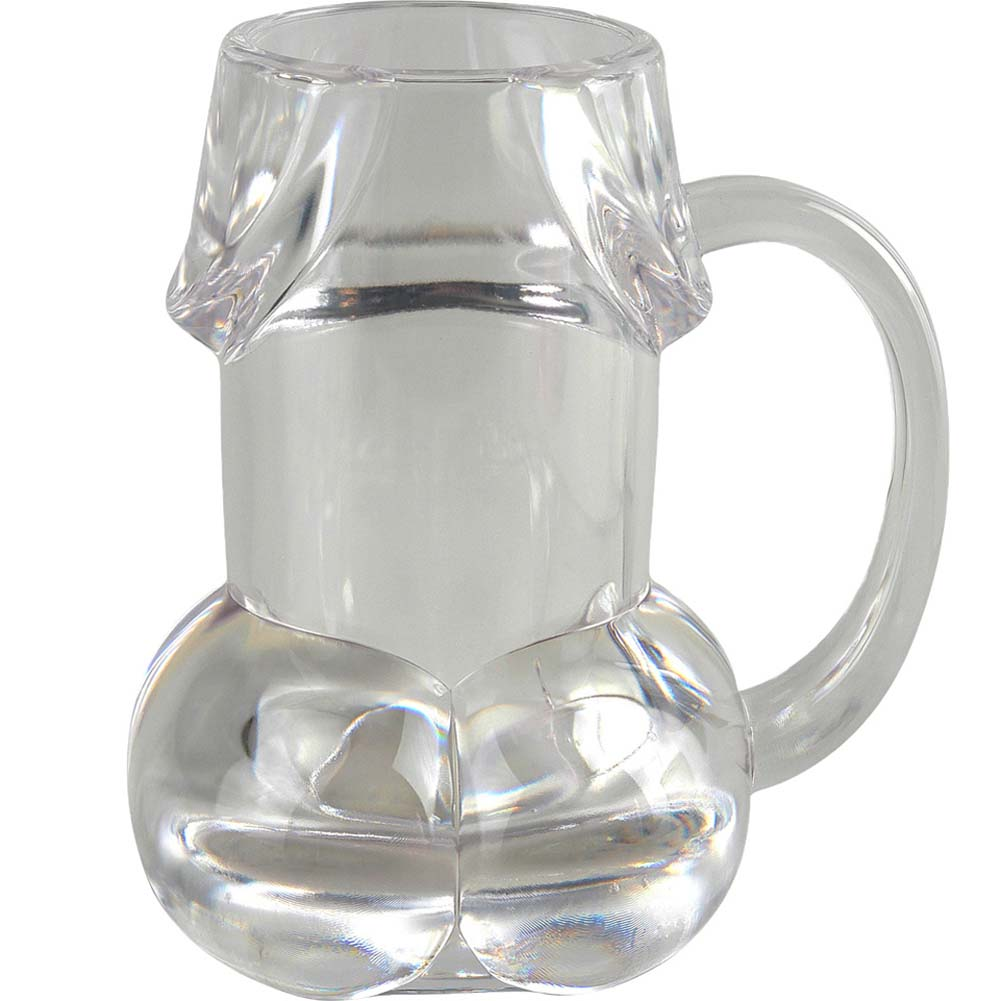 Bachelorette Pecker Party Favors Glass Beer Mug Clear - View #1