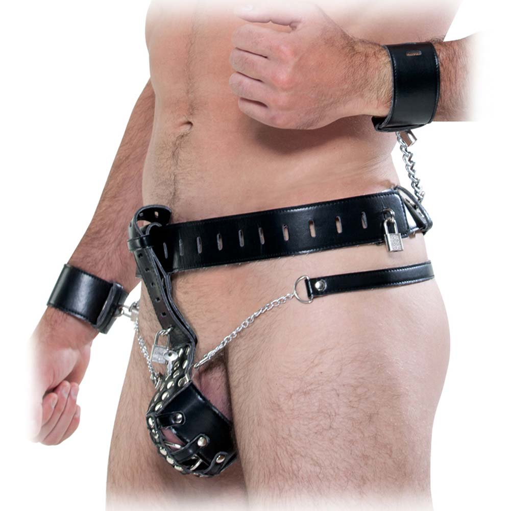 Fetish Fantasy Extreme Cock Cage Chastity Belt Black - View #2