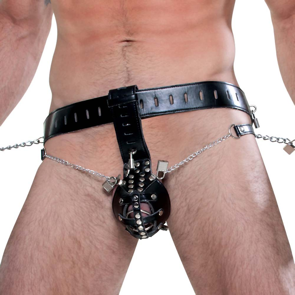 Fetish Fantasy Extreme Cock Cage Chastity Belt Black - View #4