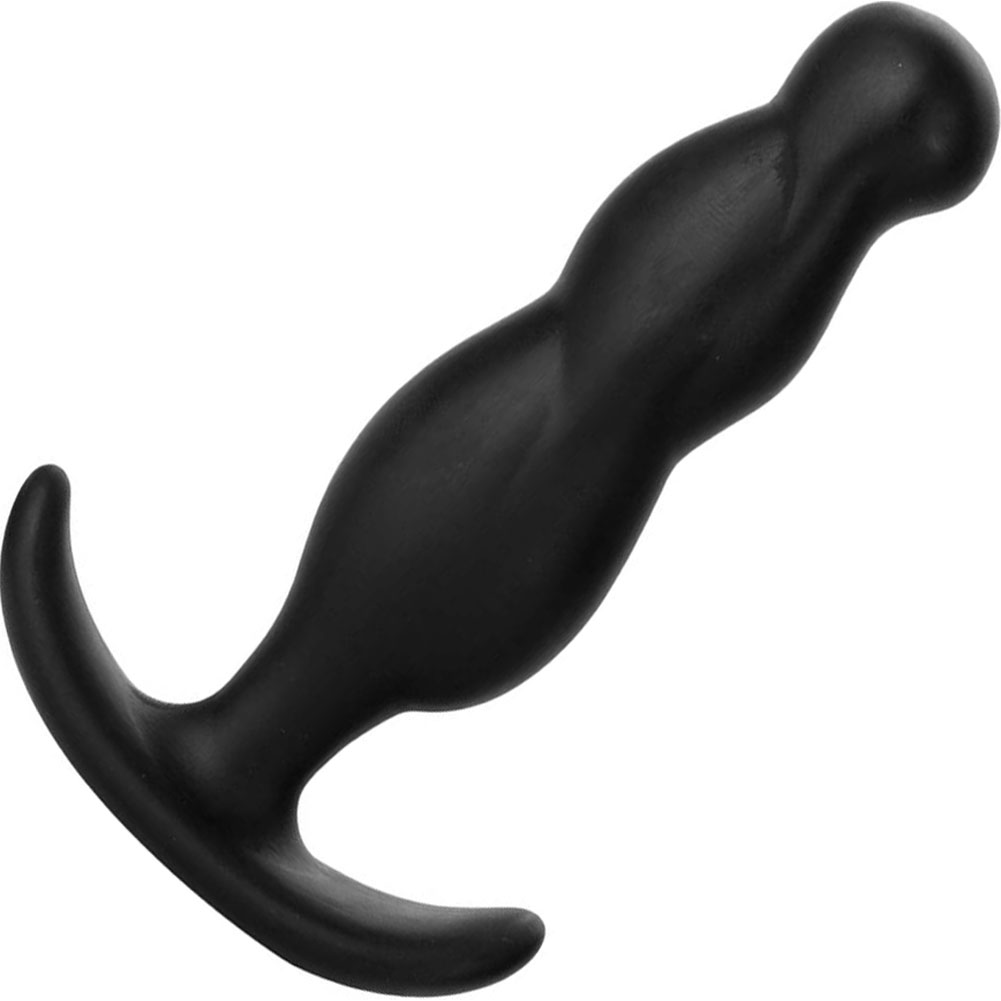 "Mood Naughty 3 Medium Silicone Butt Plug 3.75"" Black - View #2"
