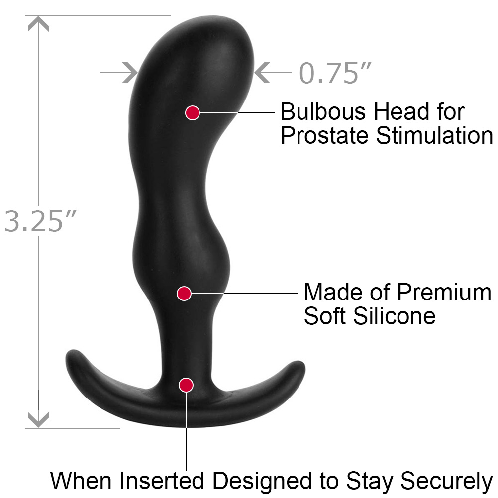 "Mood Naughty 2 Small Silicone Butt Plug 3.25"" Black - View #1"