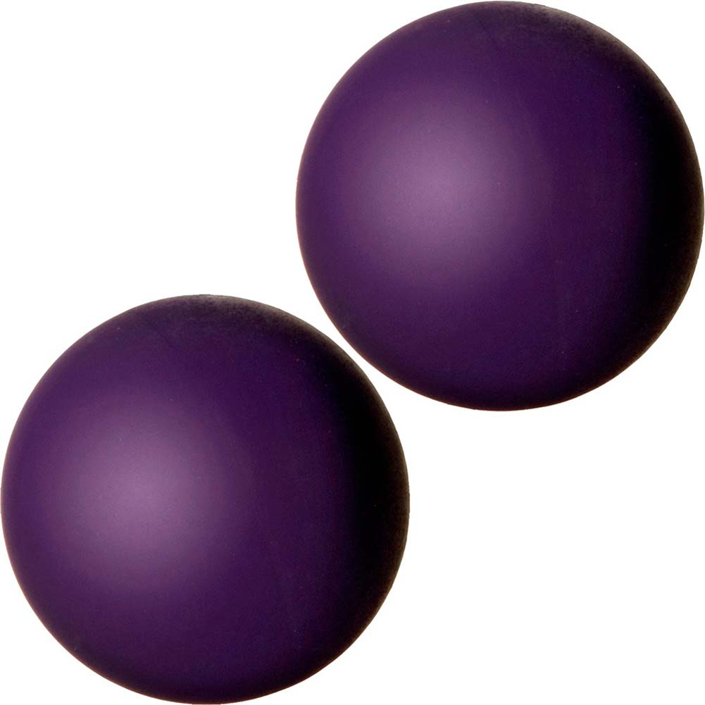 "Black Rose Blooming Silicone Ben Wa Balls 2.75"" Purple - View #2"