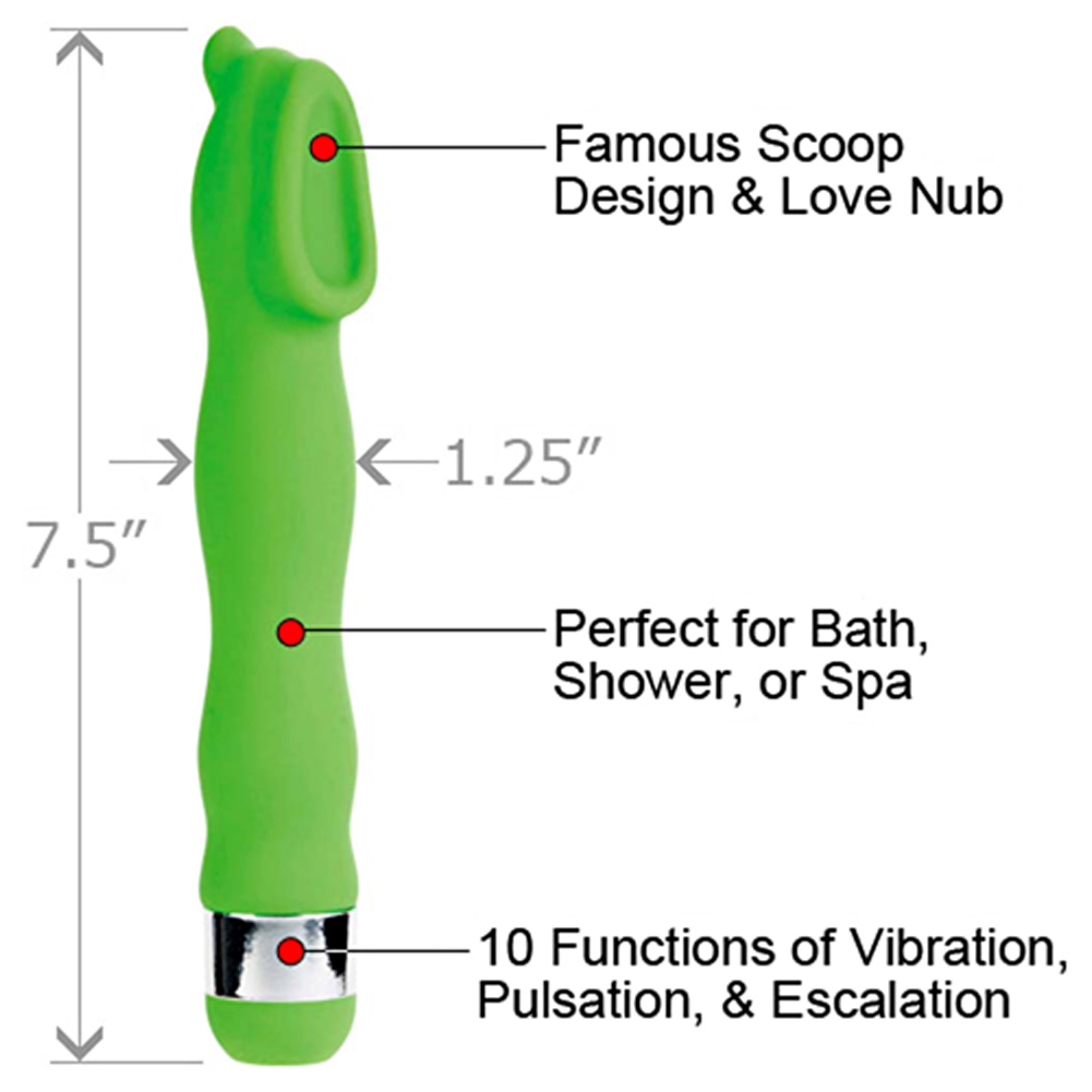 "CalExotics Gyration Sensations Gyrating Hummer Vibrator 7.5"" Green - View #1"