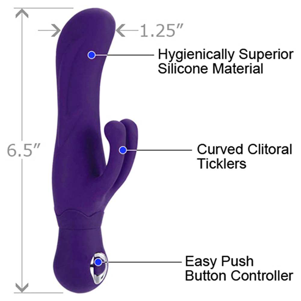 "California Exotics Posh Silicone Double Dancer Vibe 6.5"" Purple - View #1"