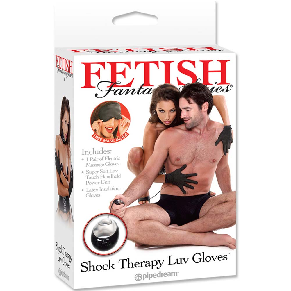 Fetish Fantasy Series Shock Therapy Gloves Black - View #1