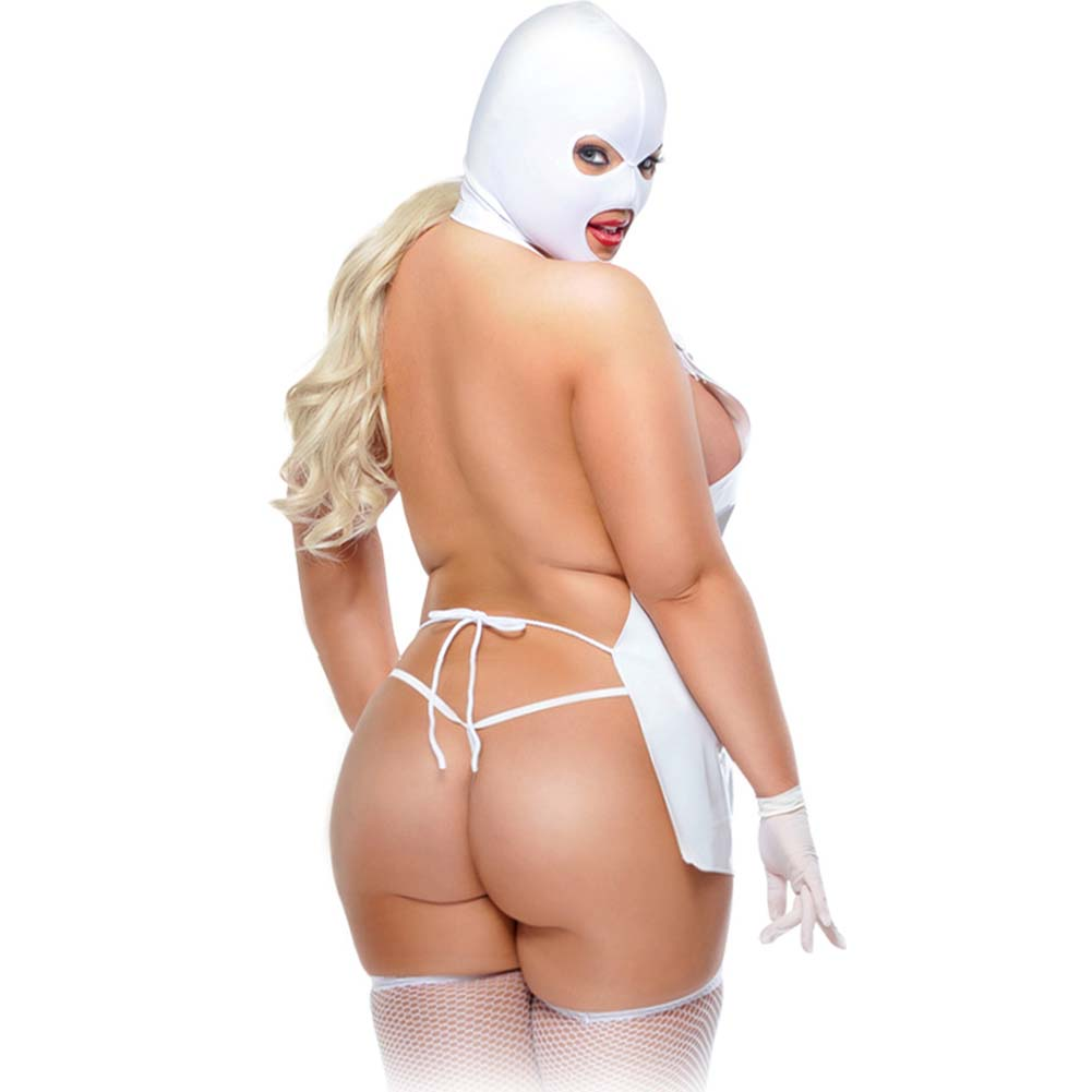 Fetish Fantasy Lingerie Femme Fatale Set Plus Size White - View #2