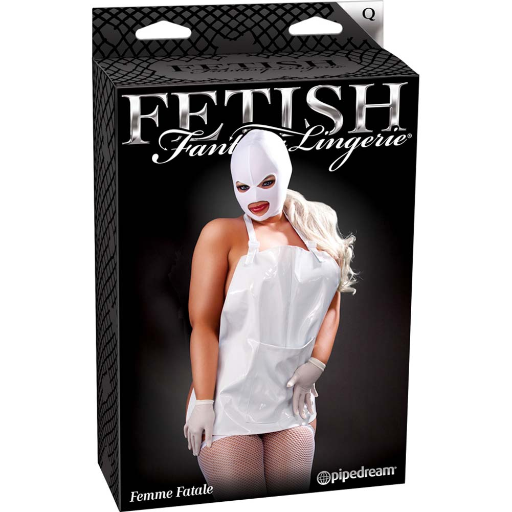 Fetish Fantasy Lingerie Femme Fatale Set Plus Size White - View #4