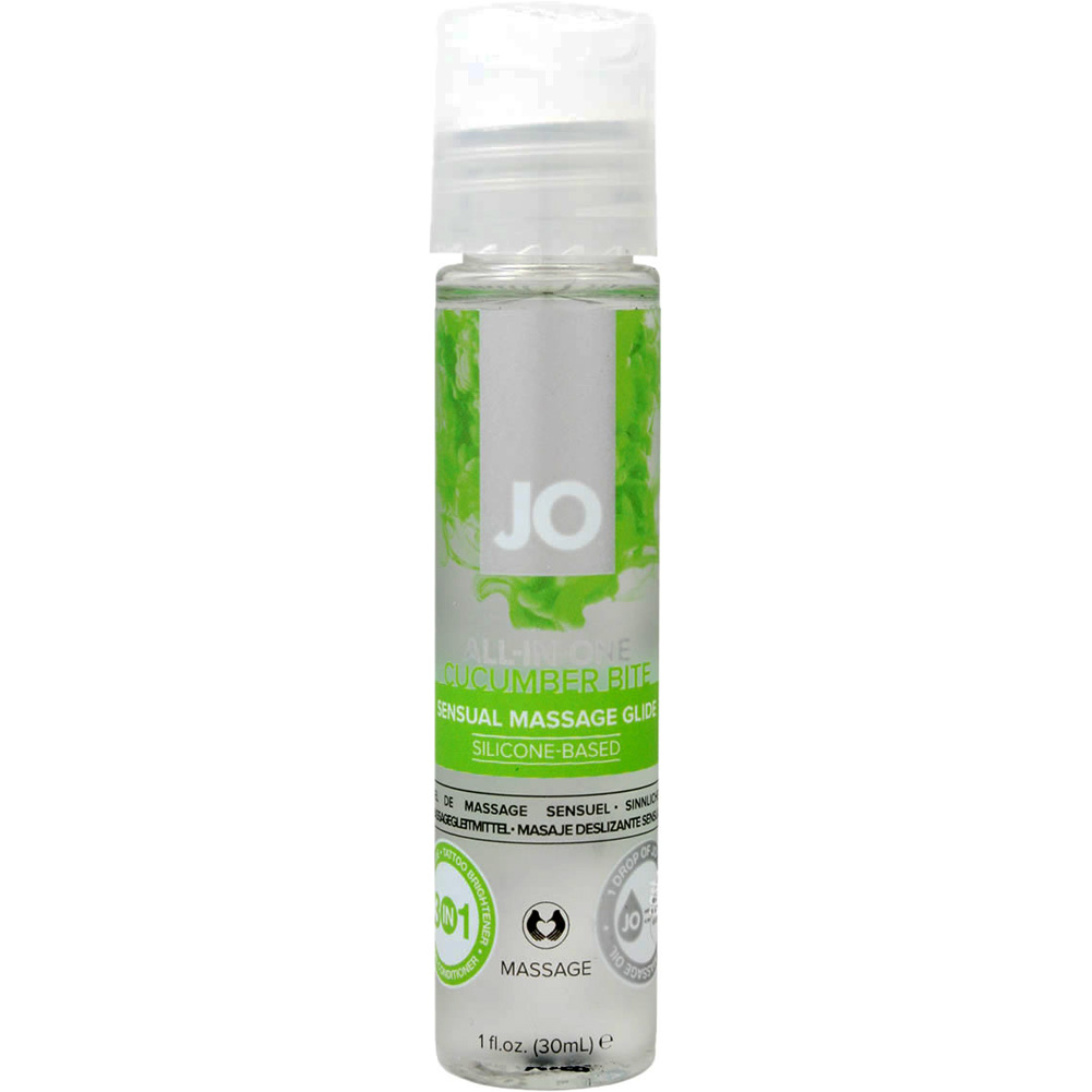 JO All in One Massage Glide Cucumber 1 Fl. Oz. - View #1