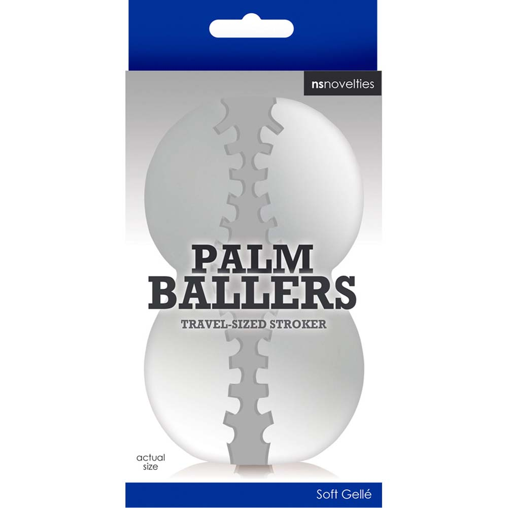 "Palm Ballers Travel Sized Stroker 4"" Clear - View #3"