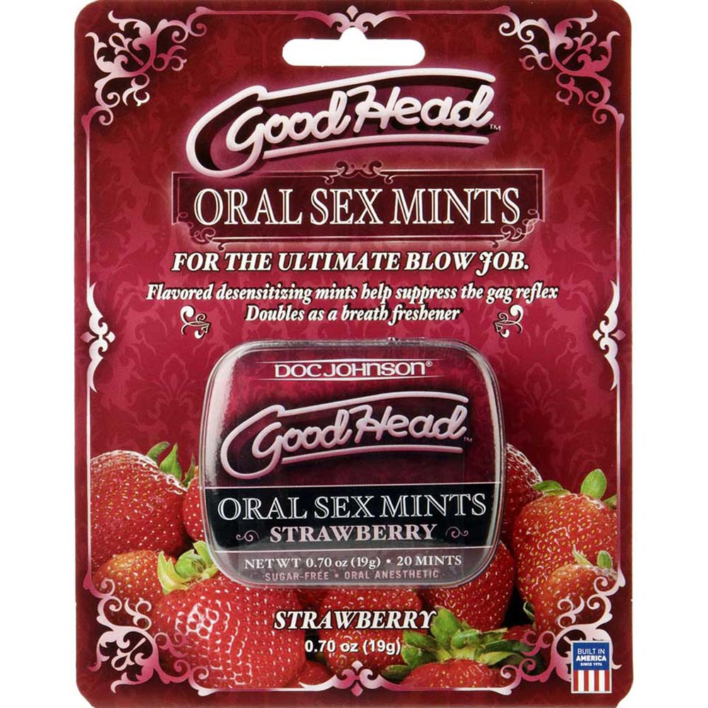 GoodHead Oral Sex Mints Strawberry Carded - View #1
