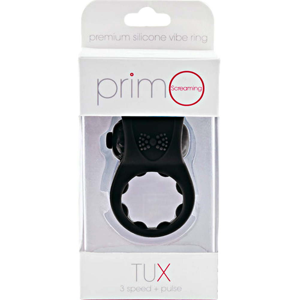 Screaming O Primo Tux Love Ring One Size Black - View #1