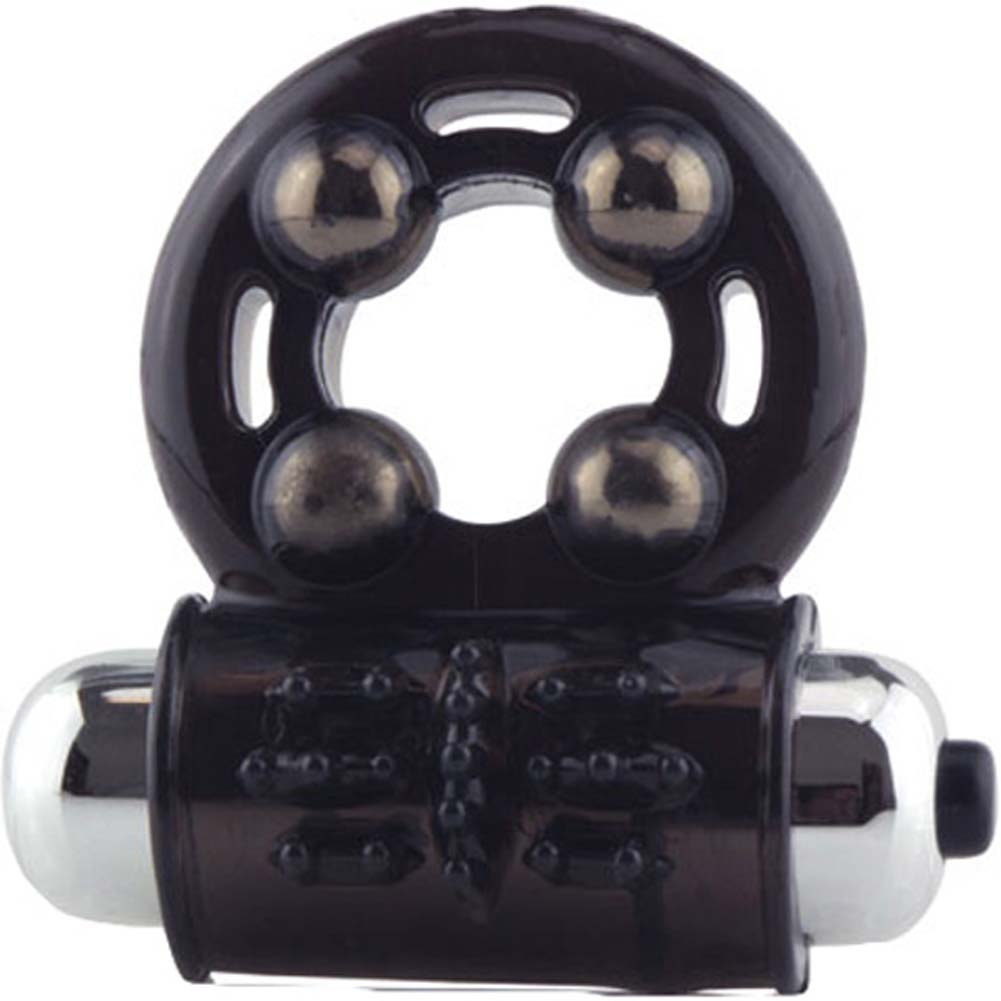 Screaming O Man Arouse Vibrating Silicone Cockring Black - View #2