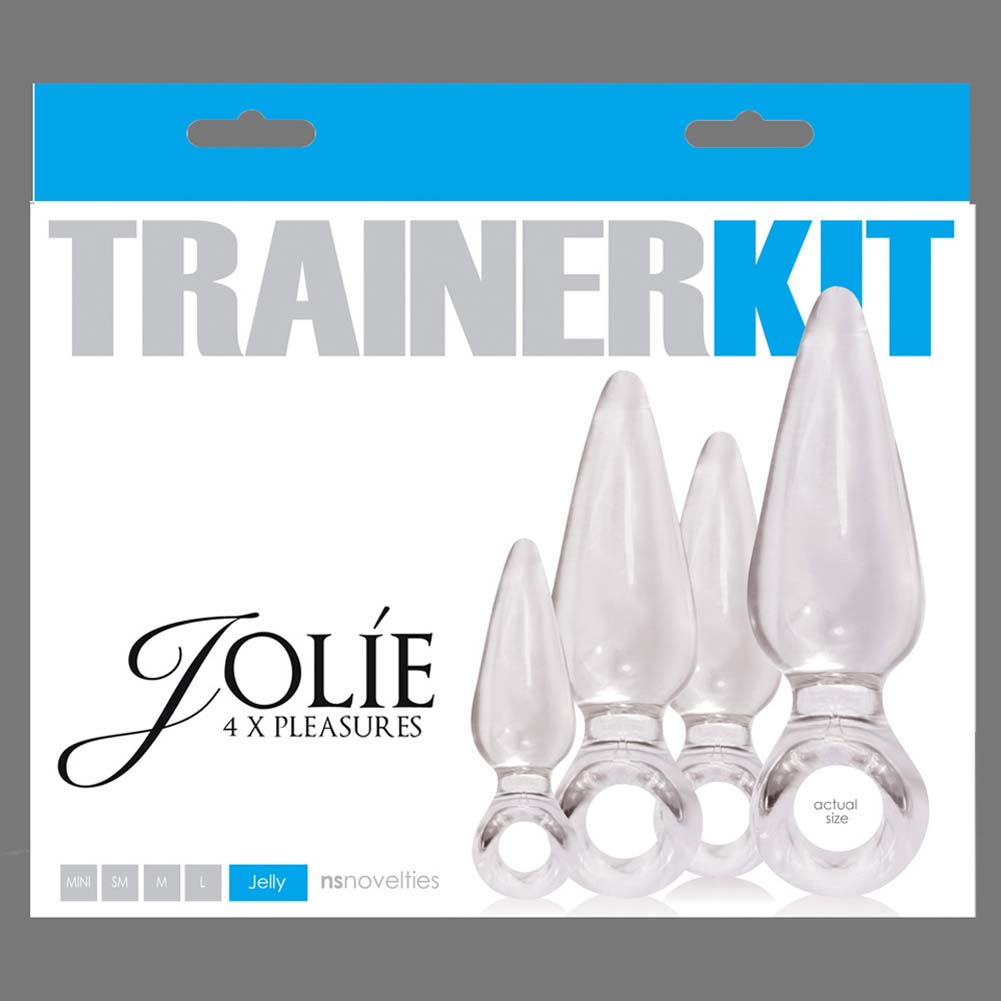 Jolie Pleasures Trainer Kit with 4 Butt Plugs Clear - View #1