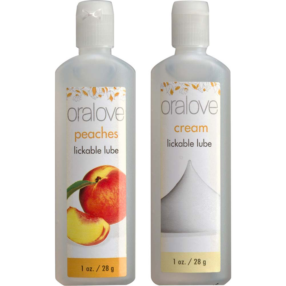 Oralove Delicious Duo Lube Peaches and Cream - View #2