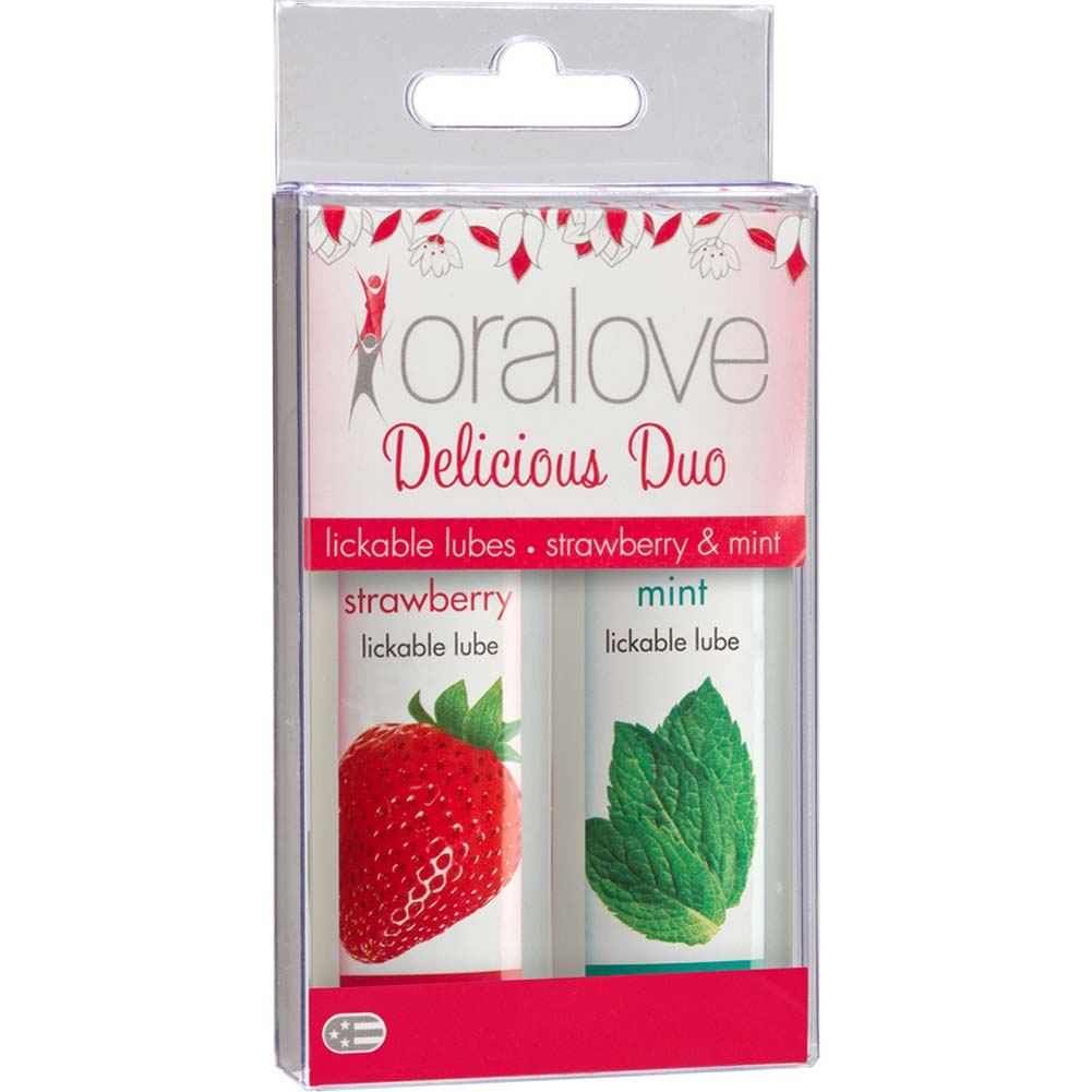 Oralove Delicious Duo Lube Strawberry and Mint - View #1