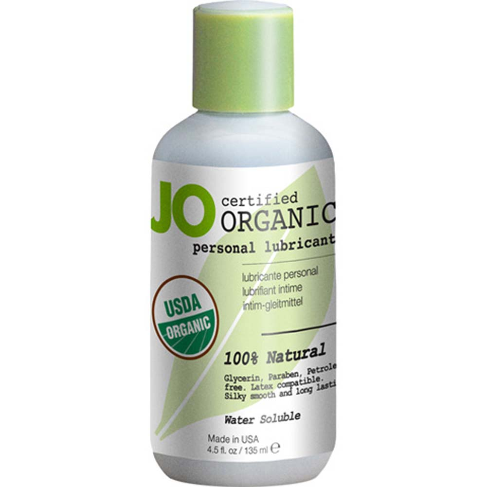 JO USDA Certified Organic Water Based Personal Lubricant 4.5 Fl.Oz 135 mL - View #1