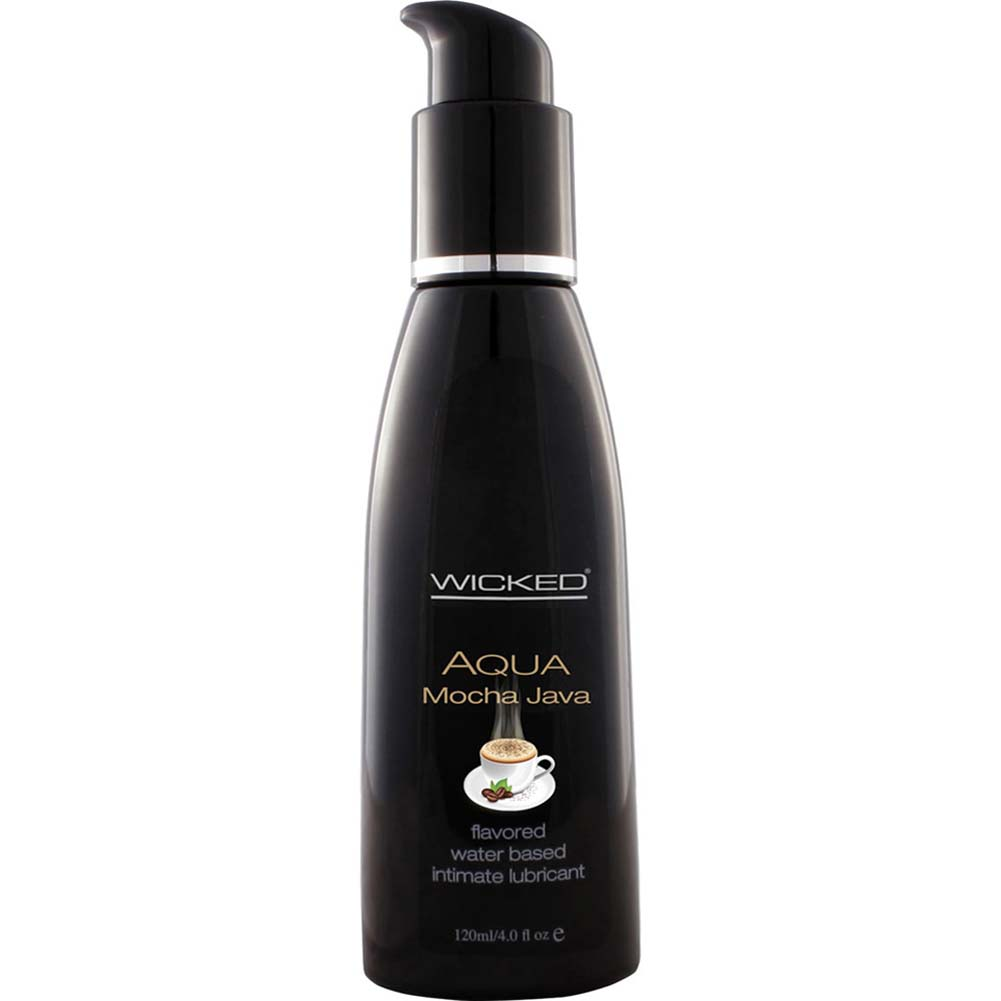 Wicked Aqua Mocha Java Flavored Water Based Lubricant 4 Fl. Oz. - View #1